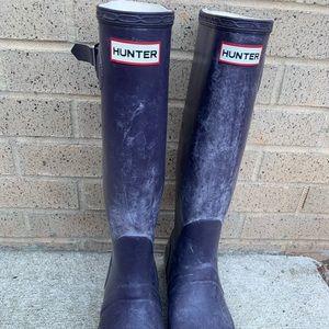 Hunter Women's Original Tall Navy Boots Size 10